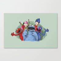cookie monster Canvas Prints featuring cookie monster by ErsanYagiz