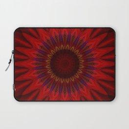 Mandala red power Laptop Sleeve