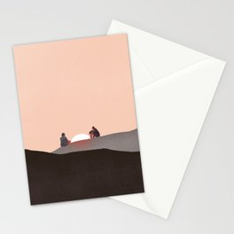 You and me alone Stationery Cards