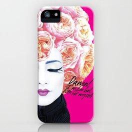 Floral Afro iPhone Case