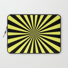 Starburst (Black & Yellow Pattern) Laptop Sleeve