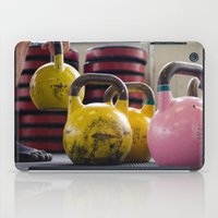 crossfit iPad Cases featuring Kettlebell Pick Up by StirlingStudio