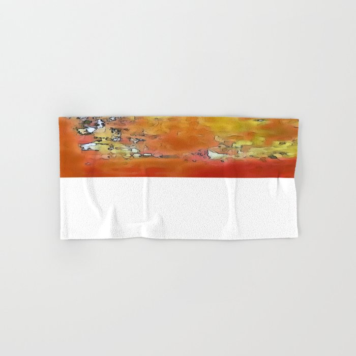 Orange Burst Hand & Bath Towel