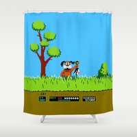 gameboy Shower Curtains featuring Gameboy by Janismarika