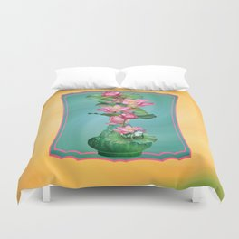 Spring Lotus Genie Bottle Duvet Cover
