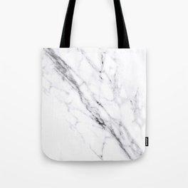 Carrara White Marble Tote Bag