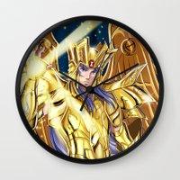 saga Wall Clocks featuring Gemini Saga by Studio Kawaii