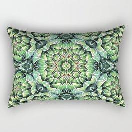 Succulent Splendor Three Rectangular Pillow
