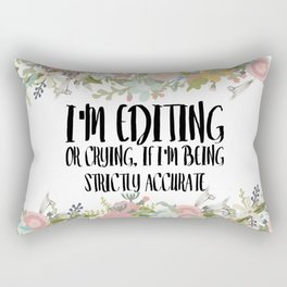 Editing / Crying Rectangular Pillow