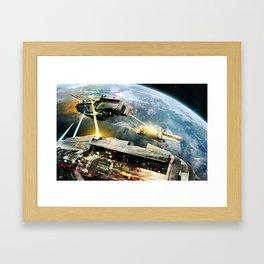 Space Battle Framed Art Print
