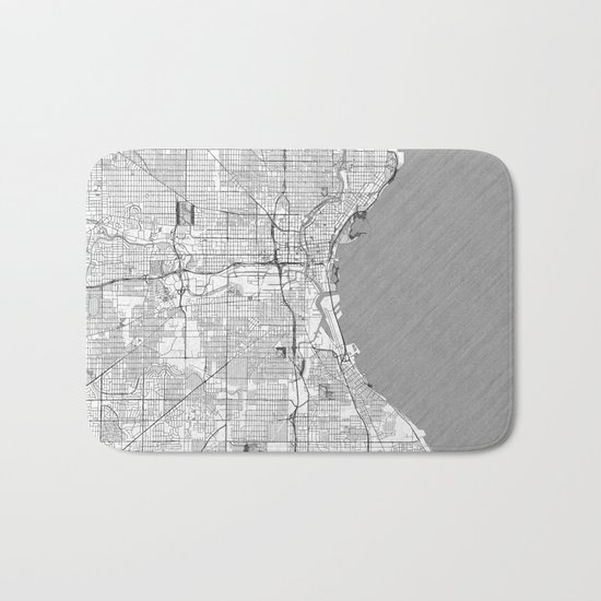 Milwaukee Map Line Bath Mat