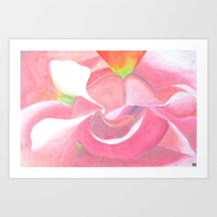 Close-Up Flower Art Print