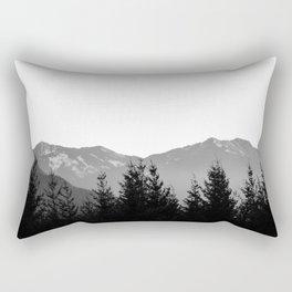 Mountain Silhouette Rectangular Pillow