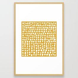 Dots / Mustard Framed Art Print