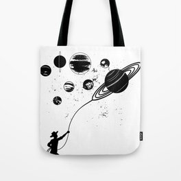 Cowboy Catches Planets Tote Bag