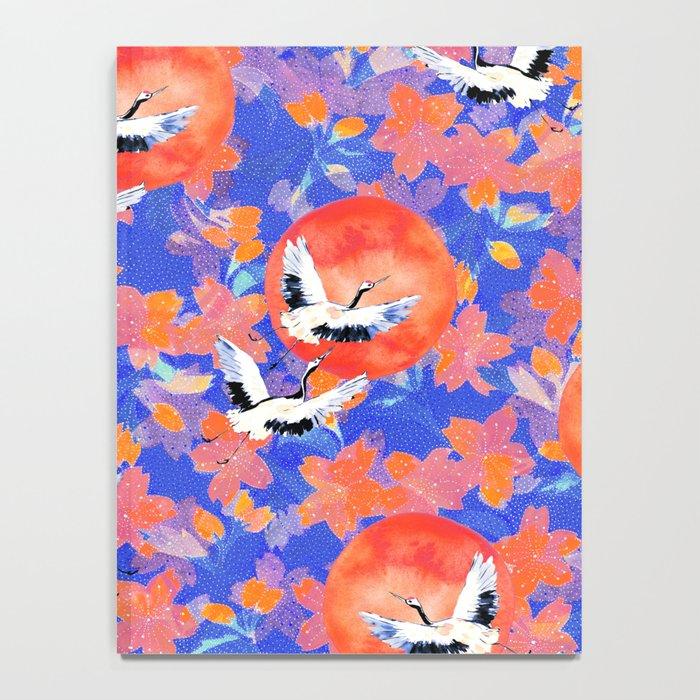 Japanese Garden: Cranes, Sun and Blossoms LT Notebook