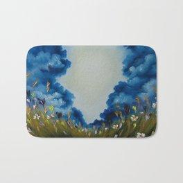 Sky Break, Skyscape, Landscape, Field of Flowers, Wild Flowers Bath Mat