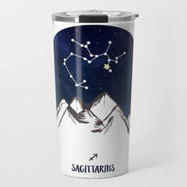 Astrology Sagittarius Zodiac Horoscope Constellation Star Sign Watercolor Poster Wall Art Travel Mug