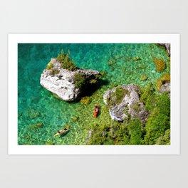 Kayaking In The Bruce Peninsula Art Print