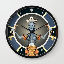 Snake Goddess Wall Clock