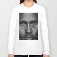 brad pitt Long Sleeve T-shirts featuring Brad Pitt by Future Illustrations- Artwork by Julie C