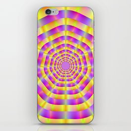 Pink and Yellow Rings iPhone Skin