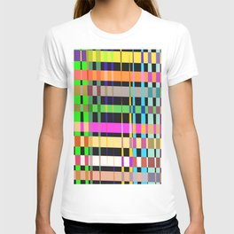inclined coloured stripes T-shirt