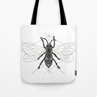 insect Tote Bags featuring insect by silb_ck