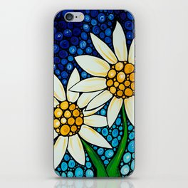 Bathing Beauties - Two best friends...white daisies...by Sharon Cummings.  Labor of Love series. iPhone Skin