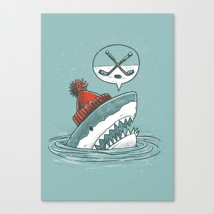 Hockey Shark Canvas Print