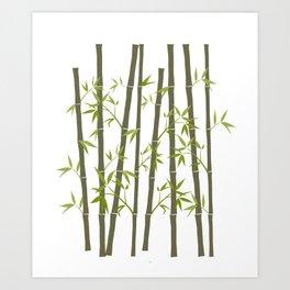 Natural Organic Bamboo Plant Art Print