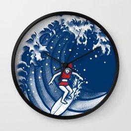 Little Red Surfing Hood Wall Clock