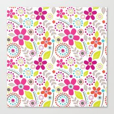Inky Floral Canvas Print