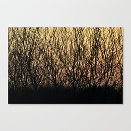 Sunset pattern - Poland - Landscape and Rural Art Photography Canvas Print