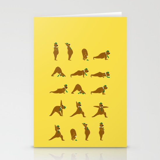 Yoga Bear - Classic Stationery Cards
