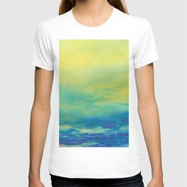 YELLOW & BLUE TOUCHING #1 #abstract #art #society6 T-shirt