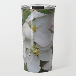 Apple blossom white and pink Travel Mug