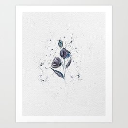 Midnight flowers no 1 Art Print