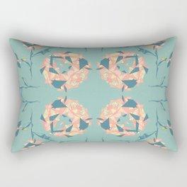 Mirrored Floral Rectangular Pillow