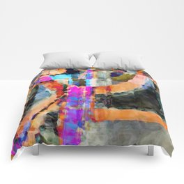 Artful Spirit Mosaic Colorful Geometric Abstract Comforters