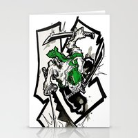 one piece Stationery Cards featuring One Piece - Zoro by RISE Arts