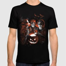 Freddy Krueger Jason Voorhees Michael Myers Super Villians Holiday Mens Fitted Tee Black X-LARGE