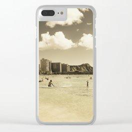 Waikiki Honolulu Oahu Hawaii Clear iPhone Case