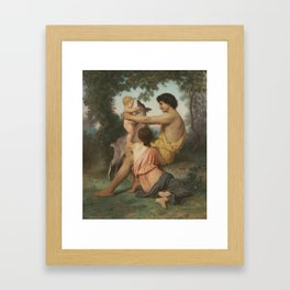 Idyll Family from Antiquity by William-Adolphe Bouguereau Framed Art Print