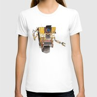 borderlands T-shirts featuring Borderlands Claptrap Watercolour by DifficultyEasy