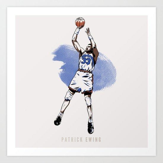 Patrick Ewing Art Print