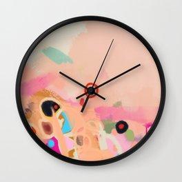 coral summer Wall Clock