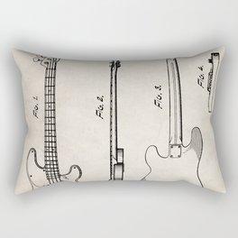 Bass Guitar Patent - Bass Guitarist Art - Antique Rectangular Pillow