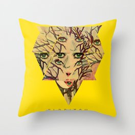Eldritch Treeface Throw Pillow