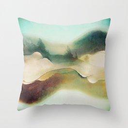 Forest Haze Throw Pillow